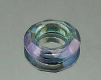 ring Crystal 30mm purple green