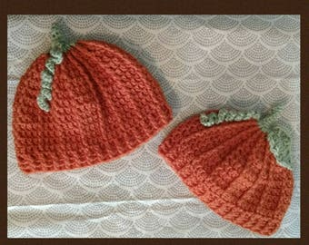 Pumpkin Hats, Children Pumpkin Hat, Pumpkin Hat, Fall Hat, Crochet Pumpkin Hat, Crochet Child's Pumpkin Hat