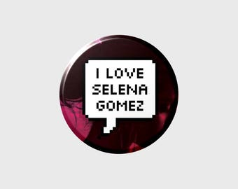 "SELENA GOMEZ ""I LOVE"" Pixel Button+ (Select Style)"
