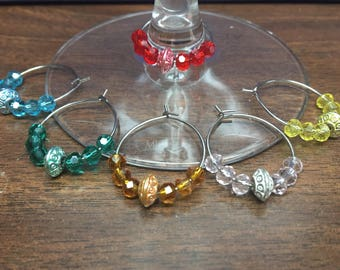 Rondelle Wine Glass Charms