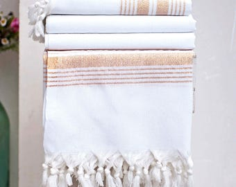 Turkish Bath Towel Set  | % 100 Turkish Cotton Handmade