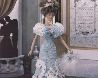 Miss June 1995, Annie's Bridal Trousseau Crochet Doll Clothes Pattern Booklet 7806