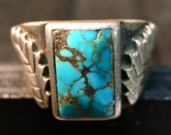 Vintage Sterling Silver/ Turquoise Ring  #039