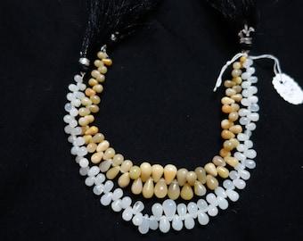 Pair Of 2 Strands Of Ethiopian Opal Smooth Drops  ETK26