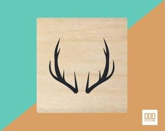 Antlers - 1.5cm Rubber Stamp (DODRS0215)