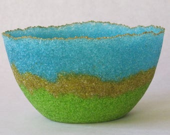 pate de verre (glass) bowl g17-024
