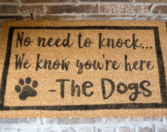 Captivating Door Mat   No Need To Knock   Front Porch Mat   Dog Door Mat