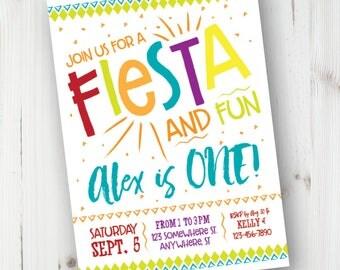 First Fiesta Birthday Invitation, Birthday Fiesta Invitation, Fiesta Birthday Invitation, First Fiesta, Personalized, DIY Invite