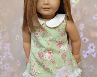 Fits 18 inch dolls such as American Girl, Mori Style Collared Dress and Skirt