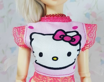 MNF hello kitty laced top for minifee slim msd