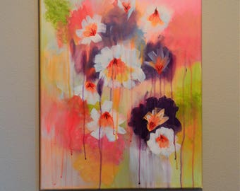 Acrylic Canvas Painting - Spring Bouquet