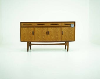 D274 Danish Mid-Century Modern Teak Sideboard Low Credenza Buffet by G Plan