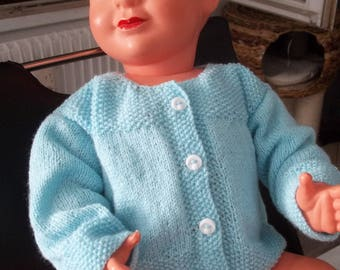 vest color Emerald - 3 months - handmade knit baby-