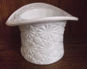 Fenton Milk Glass Daisy and Button Top Hat