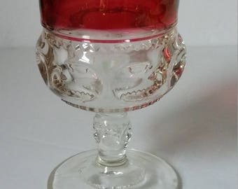 Kings Crown Ruby Flashed Water Goblet