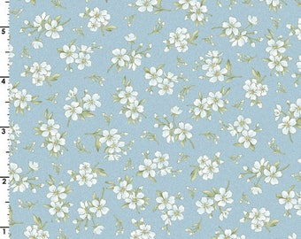 SALE! Gentle Breeze - Per Yd - Maywood Studio - Babies Breath on Blue