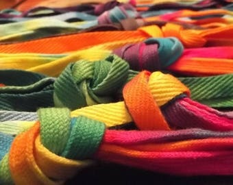 Tie-Dyed Shoelaces