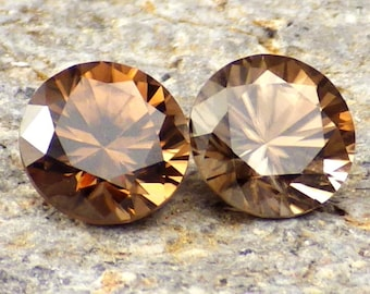 Zircon Hyacinth-Russia 3.90 Ct TW Jewelry Set-Color Unmatched-Natural Untreated-For Beautiful Jewelry!