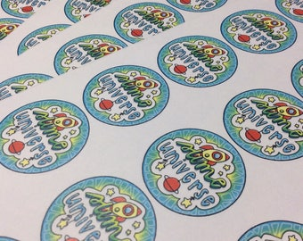Custom Printed 1 1/2 inch stickers