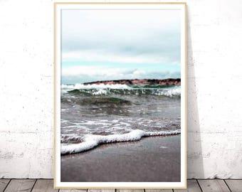Beach Prints, Summer Print, Nautical Decor, Ocean Water Print, Summer Printable, Coastal Decor Beach, Sea Prints, Water Decor, Sea Poster