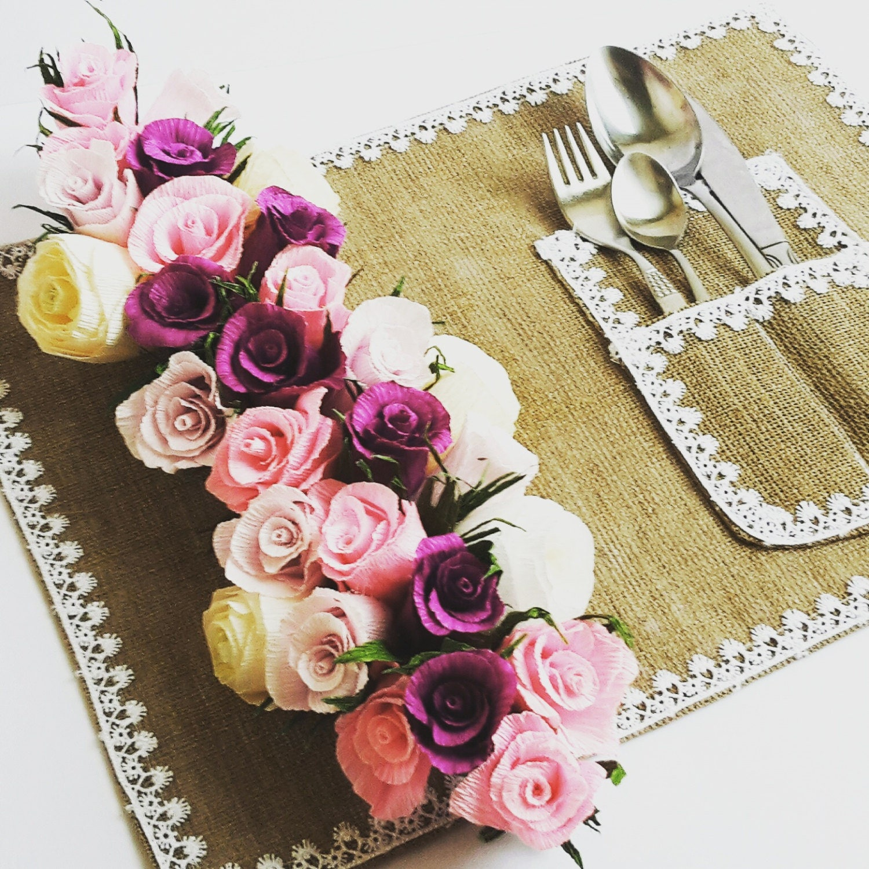 Garland pink purple garland rustic decorations wedding table garland pink purple garland rustic decorations wedding table decorations paper flowers crepe paper mightylinksfo