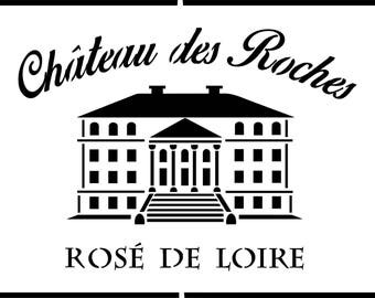 """Stencil """"Label Loire Valley Rose"""" for a charming and trendy"""