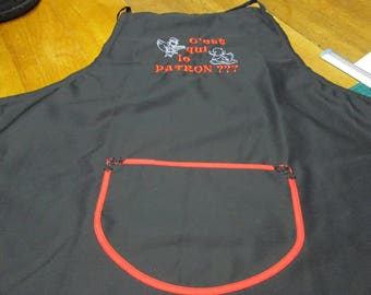 Man or woman custom embroidered apron