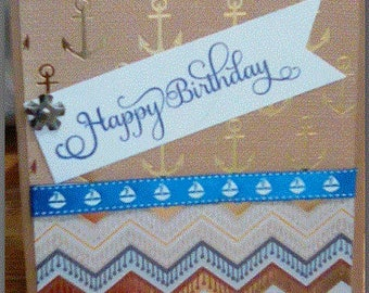 nautical male birthday card