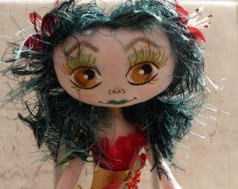 Naturéla rag doll (rag doll, handmade doll ooak doll art doll, doll maker)