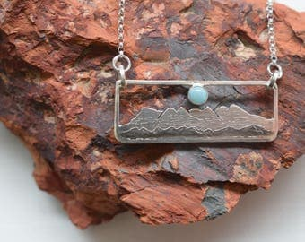 CUSTOM Mountain Range Necklace - Sterling Silver