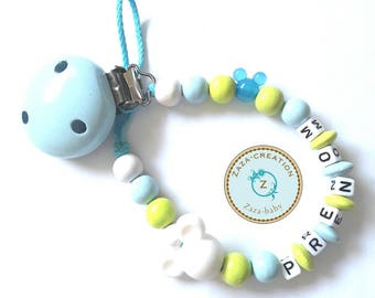 Pacifier clip personalized with your child's name