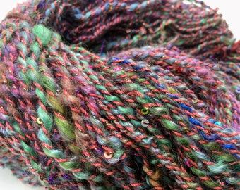 Mermaid Fin - Hand Spun, Hand Dyed Alpaca Yarn