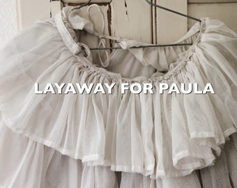LAYAWAY! Do not buy! Ballerina tutu petticoat, theatre costume, french, ruffle skirt