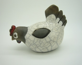 Houndstooth black and white firing raku