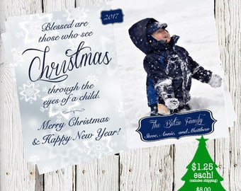 Eyes Of a Child holiday card  - DIGITAL FILE or PRINTED