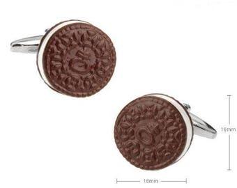 Chocolate Cookie Design Cufflink -k14