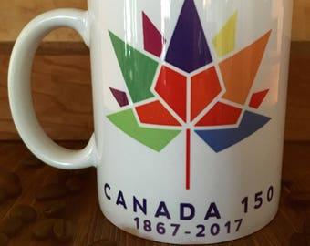 Canada 150, Canada Birthday, Canada anniversary, maple leaf mug, Canadian collectable, Memorabilia, Celebration, Happybirthday Canada, mugs