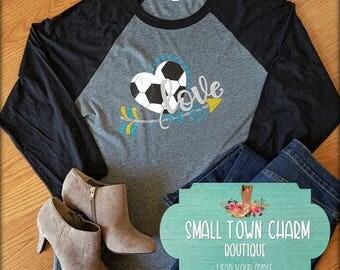 LOVE Soccer Mom Shirt, Soccer Shirt, Soccer Bling,Small Town Charm Boutique