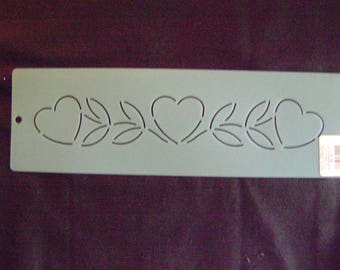 Traditional Quilting Stencil 2 in. by 13 in. Heart and Vine  Border/Wedding/Valentine's Day