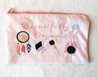 Customized Embroidered Makeup Bag