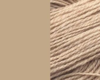Wool yarn, powder/beige | bulky 2-ply worsted quick knit pure wool yarn 100g/130m