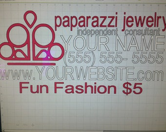 Fun Fashion 5 paparazzi jewelry car decal