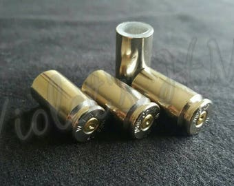 Bullet casing valve stem caps 40 cal. S&W nickel plated/silver/ Handmade*accessories*gift for him and her*hunt lover*bad guys*bad girls