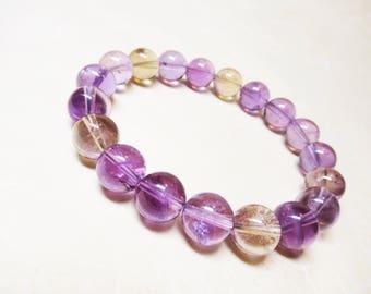 Ametrine Bracelet Healing Bracelet Calming Bracelet Spiritual Bracelet Balance Bracelet Wrist Mala Bracelet 10mm Ametrine Beads Crown Chakra