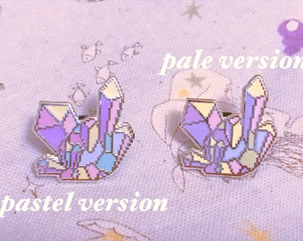 pastel crystal pixel pin badge feat. art by bitmapdreams