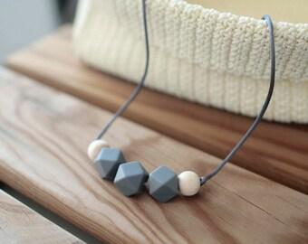 Lactation collars-Dark grey-BPA Free