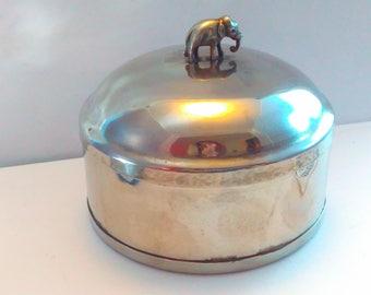Vintage elephant trinket box, vintage elephant, jewelry storage, vintage bowl, jewelry box, dressing table, trinket box, elephant, elephants