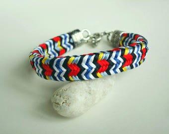 Bright bracelet Braided bracelet Kumihimo bracelet  Bright gift