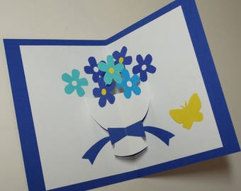 """Bouquet of flowers"" Kirigami pop-up card"