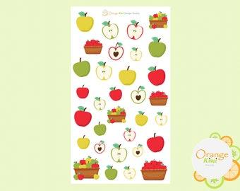 Apple Stickers, Autumn Apple Picking Stickers, Fall Stickers, Erin Condren Life Planner, Plum Paper, Happy Planner